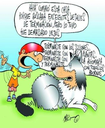 Cartoon: Detalles de Terminacion (medium) by Mario Almaraz tagged nino,perro