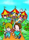 Cartoon: CIRCO (small) by Mario Almaraz tagged chicos,payaso