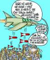 Cartoon: CRUDA REALIDAD (small) by Mario Almaraz tagged avion,guerra