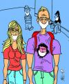 Cartoon: FIEBRE PORCINA (small) by Mario Almaraz tagged turistas