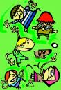 Cartoon: ILUSTRACION INFANTIL CHICOS (small) by Mario Almaraz tagged chicos