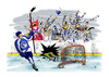 Cartoon: Goaaaaaaal (small) by paraistvan tagged ice,hockey,sport,goal