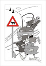 Cartoon: Traffic sign (small) by paraistvan tagged traffic sign cows woman