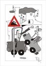 Cartoon: Traffic sign (small) by paraistvan tagged traffic sign angle