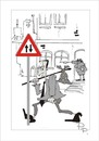 Cartoon: Traffic sign (small) by paraistvan tagged traffic sign it is also way you can ride