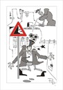 Cartoon: Traffic sign (small) by paraistvan tagged traffic sign fall