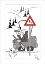 Cartoon: Traffic sign (small) by paraistvan tagged traffic sign hunting