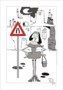 Cartoon: Traffic sign (small) by paraistvan tagged traffic sign woman