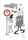 Cartoon: Traffic sign (small) by paraistvan tagged traffic sign woman flustered