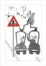 Cartoon: Traffic sign (small) by paraistvan tagged traffic sign passage