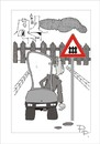 Cartoon: Traffic sign (small) by paraistvan tagged traffic sign difficulty fence