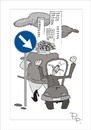 Cartoon: Traffic sign (small) by paraistvan tagged traffic sign fat woman