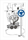 Cartoon: Traffic sign (small) by paraistvan tagged traffic sign to circle drunk happy