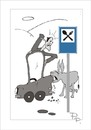 Cartoon: Traffic sign (small) by paraistvan tagged traffic sign donkey food