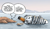 Cartoon: BER-gungsarbeiten (small) by Tobias Wieland tagged costa,concordia,italien,schettino,kreuzfahrt,schiff,berlin,flughafen,ber,wowereit,platzeck,skandal,bau,verzögerung,untergang,havarie,urlaub,mammut,projekt