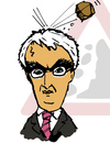 Cartoon: Alistair Darling (small) by Dom Richards tagged chancellor,caricature