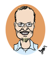 Cartoon: competition entry no.3 (small) by Dom Richards tagged bookstore,caricature
