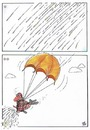 Cartoon: rain and soldier (small) by kamil yavuz tagged fly,rain,soldier
