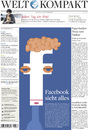 Cartoon: Junior Lopes on Page 1 (small) by Vanessa Oxygen tagged junior,lopes,facebook,zuckerberg,welt