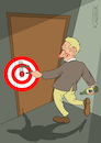 Cartoon: Target (small) by Jura Karikatura tagged target,wine,drunk,alcoholism