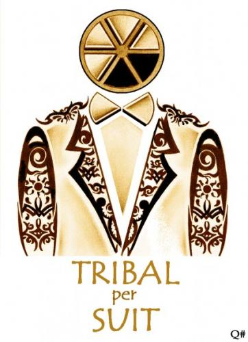 Cartoon TRIBAL PERSUIT Medium By QUIM Tagged Tribaltatoosuit 362x500px