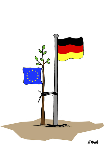 Cartoon: Germanys leading role in Europe (medium) by emraharikan tagged eu,germany