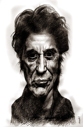 Cartoon: al pacino (medium) by Medi Belortaja tagged actors,people,famous,pacino,al