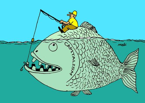 Cartoon: fishing (medium) by Medi Belortaja tagged fish,fishing,tooth,capitalism