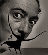 Cartoon: Dali (small) by Medi Belortaja tagged salvador dali bull horns