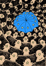 Cartoon: european umbrella (small) by Medi Belortaja tagged europe,umbrella,crisis,eurozone,peoples,stars