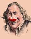 Cartoon: Gerard Depardieu (small) by Medi Belortaja tagged gerard,depardieu,breasta,nose