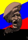 Cartoon: hugo chavez (small) by Medi Belortaja tagged hugo,chavez,president,venezuela,cracked,cracking,cancer,face,head
