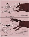 Cartoon: humor (small) by Medi Belortaja tagged humor,toro,bull,horns,threat