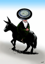 Cartoon: Nasreddin after migration (small) by Medi Belortaja tagged nasreddin,hodja,migration,wheel,mercedes,benz