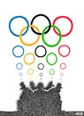 Cartoon: olympic thinkers (small) by Medi Belortaja tagged olympic,games,thinkers