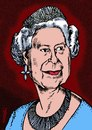 Cartoon: Queen Elisabeth (small) by Medi Belortaja tagged queen elisabeth uk united kingdom
