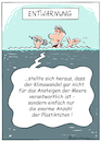 Cartoon: Entwarnung (small) by Riemann tagged klima,wandel,meer,meeresspiegel,plastik,plastiktueten,umwelt,erde,konsum,cartoon,george,riemann