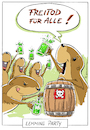 Cartoon: Freibier (small) by Riemann tagged lemminge,freibier,freitod,feiern,gift,natur,tiere,selbstmord,nagetier,party,lemmings,suicide,free,drinks,cartoon,george,riemann