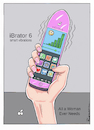 Cartoon: iBrator (small) by Riemann tagged smart,phone,vibrator,cell,dildo,women,men,sex,future,technology,massage,app,frau,mann,handy,digitale,revolution,cartoon,george,riemann