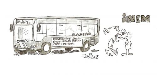 Cartoon: Autobus ateo (medium) by jobi_ tagged religion