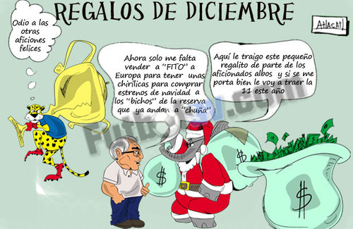 Cartoon: grinch jaguar (medium) by atlacatl tagged futbol,soccer