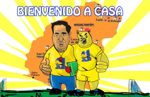 Cartoon: once municipal (medium) by atlacatl tagged futbol,canario,deporte,ahuachapan