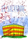 Cartoon: estadio cuscatlan de El Salvador (small) by atlacatl tagged estadio,futbol