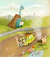 Cartoon: Park (small) by sfepa tagged dinosaur,jurassic,barbecue