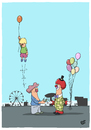 Cartoon: Abgehoben (small) by luftzone tagged cartoonalarm,cartoon,thomas,luft,luftzone,humor,comic,spaß,lustig,freude,lachen,comedy,lacher,brüller,zeichnung,sprechblase,karikatur,luftballon,kirmes,rummel,clown,frau,mutter,kind,sohn,abflug