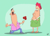 Cartoon: Der Rosenkavalier (small) by luftzone tagged thomas,luft,cartoon,lustig,rosenkavalier,rosen,blumen,flowers,roses,mann,frau,man,woman,antrag,paar,liebe,love