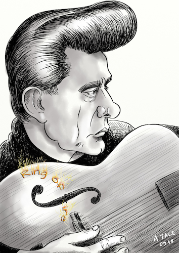 Cartoon: Johnny Cash Karikatur (medium) by A Tale tagged johnny,cash,todestag,musiker,usa,sänger,songwriter,country,folk,rock,and,roll,porträt,portrait,gitarre,ring,of,fire,caricature,karikatur,cartoon,pressezeichnung,illustration,tale,agostino,natale,johnny,cash,todestag,musiker,usa,sänger,songwriter,country,folk,rock,and,roll,porträt,portrait,gitarre,ring,of,fire,caricature,karikatur,cartoon,pressezeichnung,illustration,tale,agostino,natale