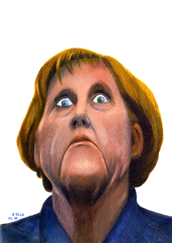 Cartoon: Merkel (medium) by A Tale tagged merkel,angela,karikatur,porträt,zeichnung,caricature,cartoon,illustration,tale,agostino,natale,angela merkel,kariaktur,karikaturen,bundeskanzler,angela,merkel
