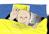 Cartoon: Gespaltene Ukraine (small) by A Tale tagged ukraine krise proteste demonstrationen bürgerkrieg putin russland einfluss janukowitsch regierung opposition flagge eskalation krim invasion einmarsch krieg zerfall annexion ostukraine unruhen