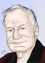 Cartoon: Hugh Hefner (small) by A Tale tagged hugh,hefner,playboy,magazine,erotic,girls,portrait,caricature,karikatur,porträt